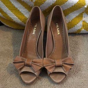 Beige size 39 1/2 Prada high heels